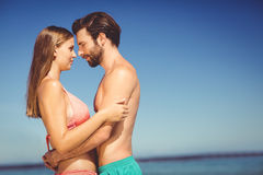 Young couple embracing each other Stock Photos