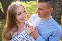 Young couple embracing enjoying date time. Love. romance, dating Stock Photography