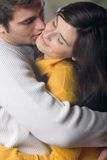 Young couple embracing, outdoors Royalty Free Stock Photography