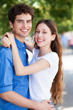Young couple embracing Stock Photography