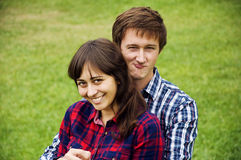 Young couple embracing Stock Image