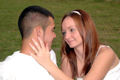 Young couple engaged stock image