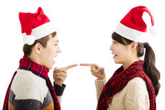 Young couple enjoy christmas holiday Royalty Free Stock Images