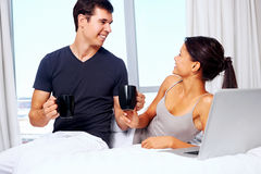 Relaxing couple Stock Images