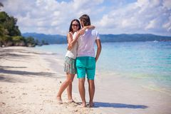 Young couple enjoying each other on exotic beach Stock Image