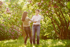 Young couple enjoying each other Royalty Free Stock Photo