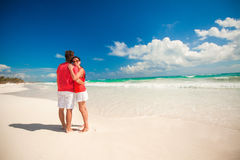 Young couple enjoying each other on a tropical Royalty Free Stock Photo