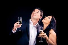 Couple Enjoying New Year`s Eve Royalty Free Stock Images