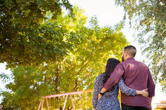 Young couple enjoying the sun Stock Image