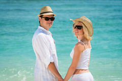Young couple enjoying their holiday Stock Image