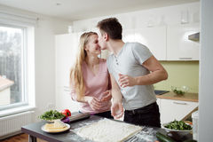 Young couple enjoying themselves Royalty Free Stock Image