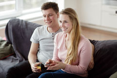 Young couple enjoying themselves Royalty Free Stock Photography