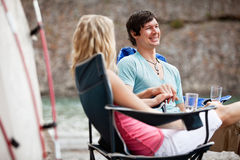 Young couple enjoying the vacation Royalty Free Stock Photo