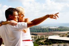 Young couple enjoying view Royalty Free Stock Photography