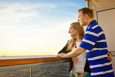 Couple Enjoying a Cruise Vacation royalty free stock images