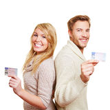 Young couple with European driving Royalty Free Stock Photo