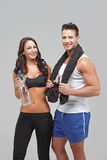 Young couple exercise together Stock Image