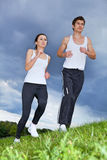 Young couple exercising in park Royalty Free Stock Image