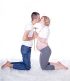 Young couple expecting a baby Stock Photos