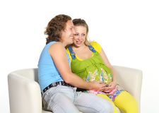 Young couple expecting a baby Royalty Free Stock Images