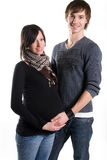 Young couple expecting a baby Stock Photography
