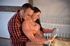 Young couple expecting a baby Stock Photo