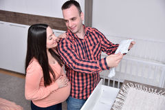 Young couple expecting a baby Stock Images