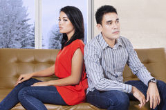Young couple with expression anger Stock Image
