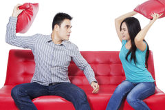 Young couple and expression angry Stock Images