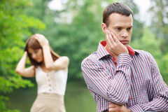 Young couple facing problems Stock Photo