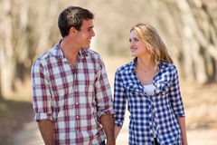 Young couple fall Royalty Free Stock Image