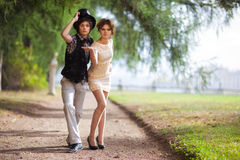 Young couple fashion Stock Photo
