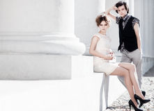 Young couple fashion Stock Images