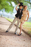 Young couple fashion Stock Photography