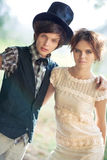 Young couple fashion Royalty Free Stock Image