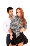 Young couple fashion portait Stock Photography