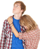 Young couple after a fight. Couple crisis - relationship difficulties: young couple after a fight Royalty Free Stock Photography