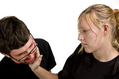 Young Couple Fighting Stock Photography