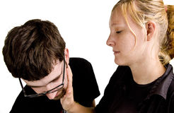 Young Couple Fighting Stock Image