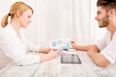 Young couple and financial planning Stock Photo