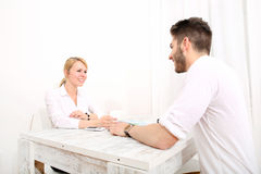 Young couple and financial planning Royalty Free Stock Photography