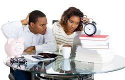 Young couple with financial problems Royalty Free Stock Photography