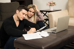 Young couple with financial problems Stock Images