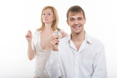 Young Couple Finding Out Results Of A Pregnancy stock photos