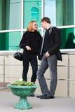 Young man and woman flirting Royalty Free Stock Photos