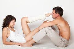 Young couple flirting Royalty Free Stock Photos