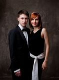 Young couple in formal dress Royalty Free Stock Images
