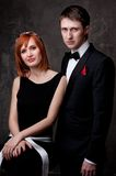 Young couple in formal dress Royalty Free Stock Photo