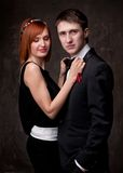 Young couple in formal dress Royalty Free Stock Image