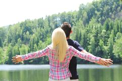 Young couple freedom Stock Photos